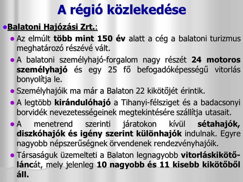 A régió közlekedése Balatoni Hajózási Zrt.: