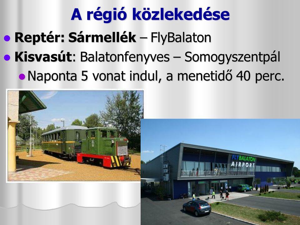 A régió közlekedése Reptér: Sármellék – FlyBalaton
