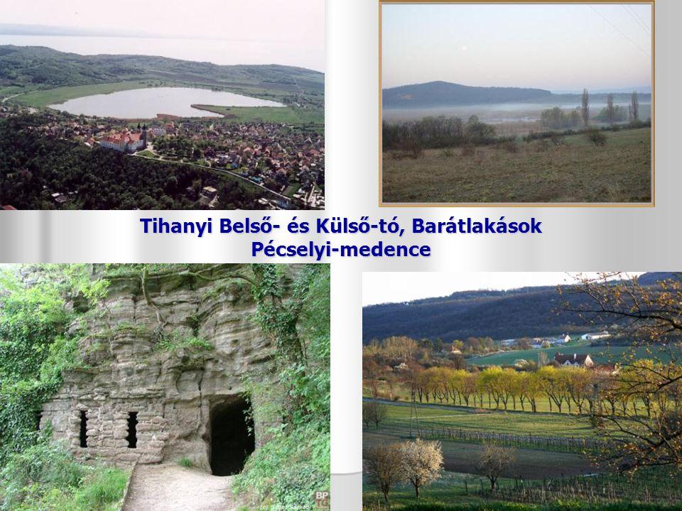 Tihanyi Belső- és Külső-tó, Barátlakások Pécselyi-medence