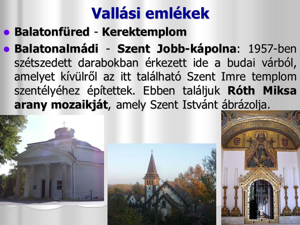 Vallási emlékek Balatonfüred - Kerektemplom