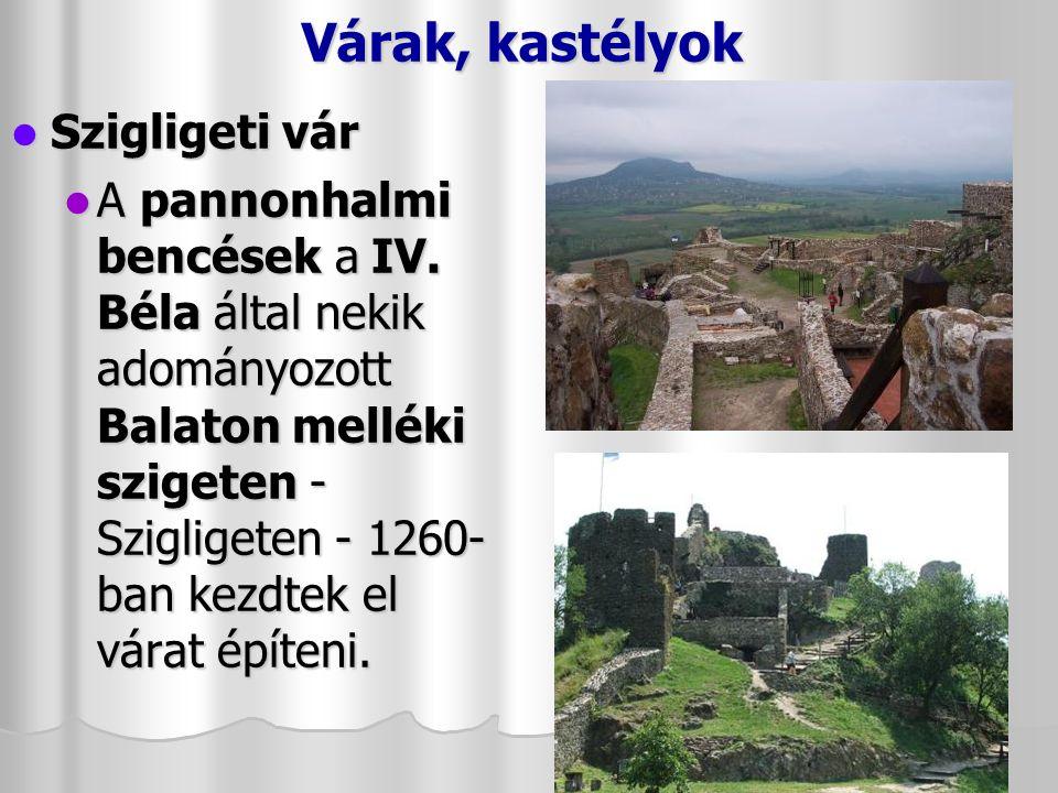 Várak, kastélyok Szigligeti vár