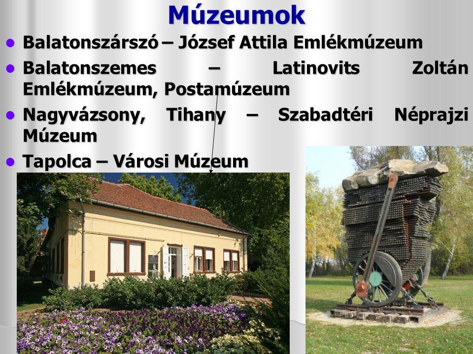 Múzeumok Balatonszárszó – József Attila Emlékmúzeum