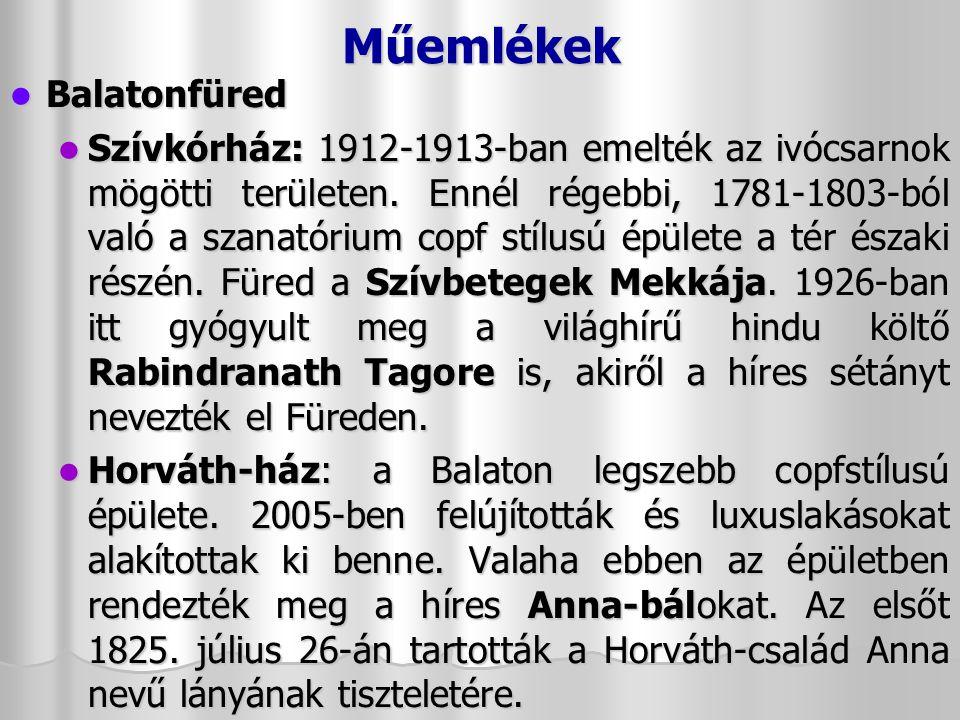 Műemlékek Balatonfüred