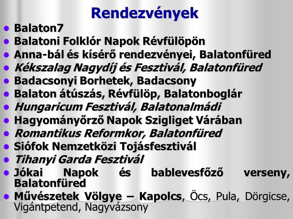 Rendezvények Balaton7 Balatoni Folklór Napok Révfülöpön