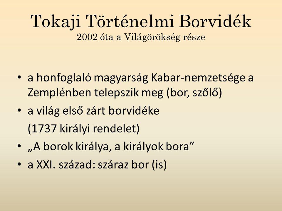 Tokaji Történelmi Borvidék 2002 óta a Világörökség része