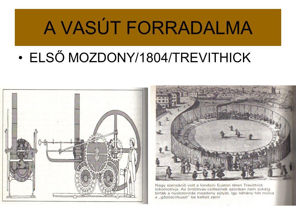 A VASÚT FORRADALMA ELSŐ MOZDONY/1804/TREVITHICK