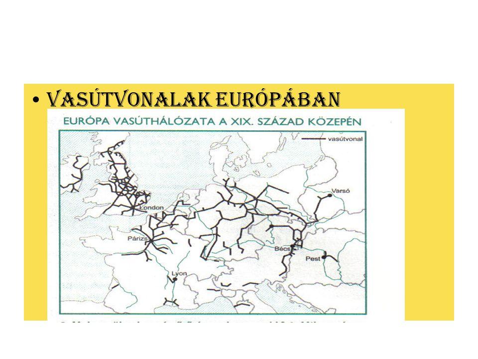 VASÚTVONALAK EURÓPÁBAN