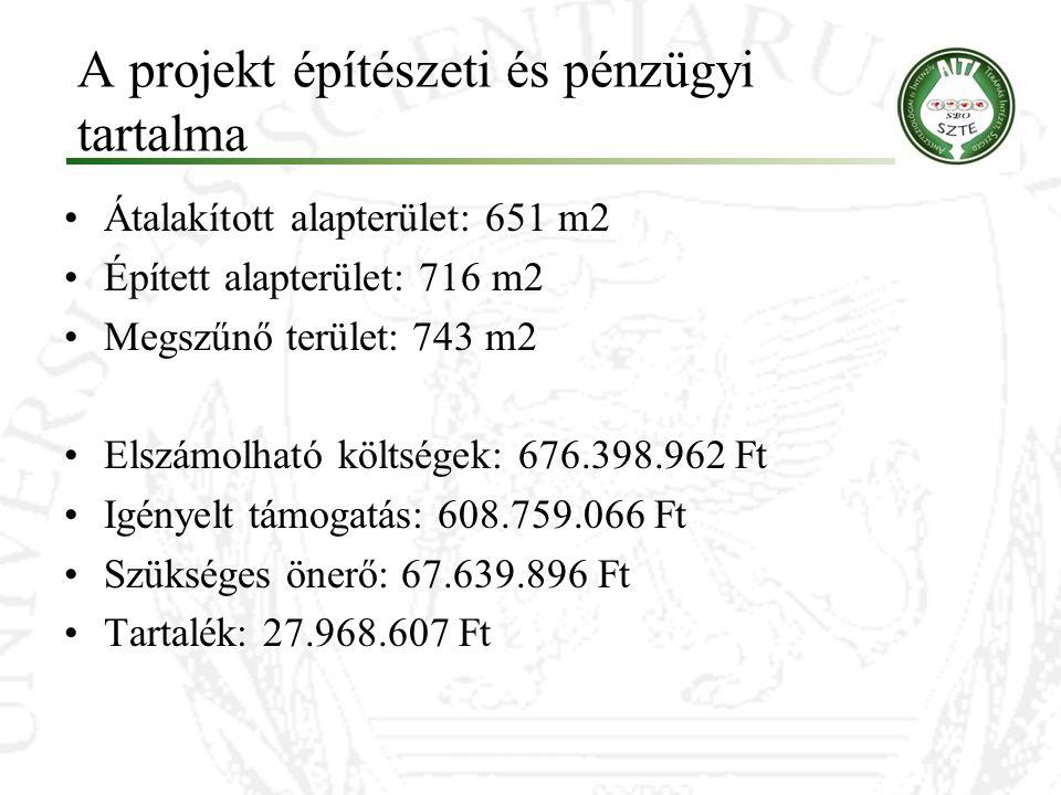 A projekt építészeti és pénzügyi tartalma