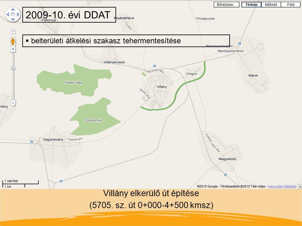 Villány elkerülő út építése (5705. sz. út 0+000-4+500 kmsz)