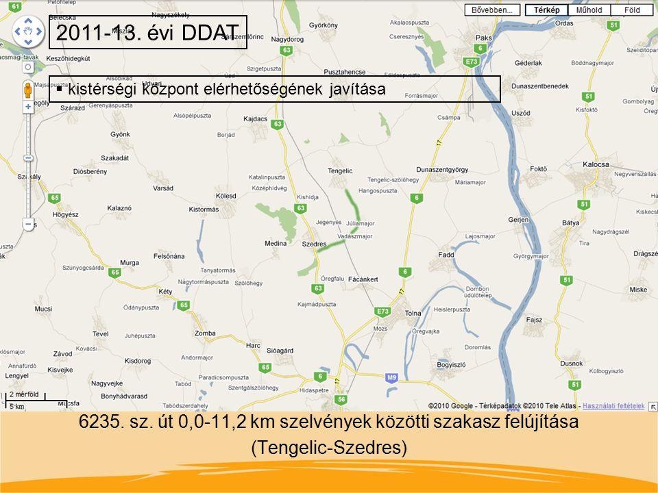 2011-13. évi DDAT kistérségi központ elérhetőségének javítása.