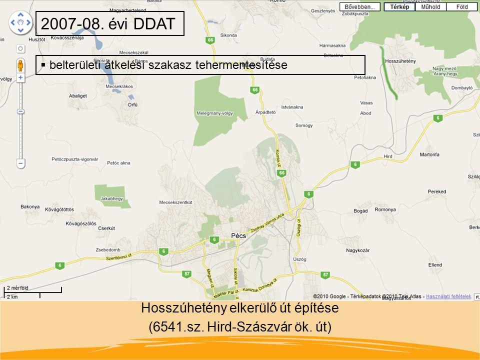 Hosszúhetény elkerülő út építése (6541.sz. Hird-Szászvár ök. út)