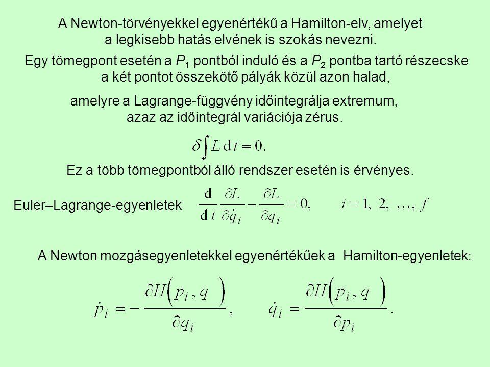 A Newton-törvényekkel egyenértékű a Hamilton-elv, amelyet
