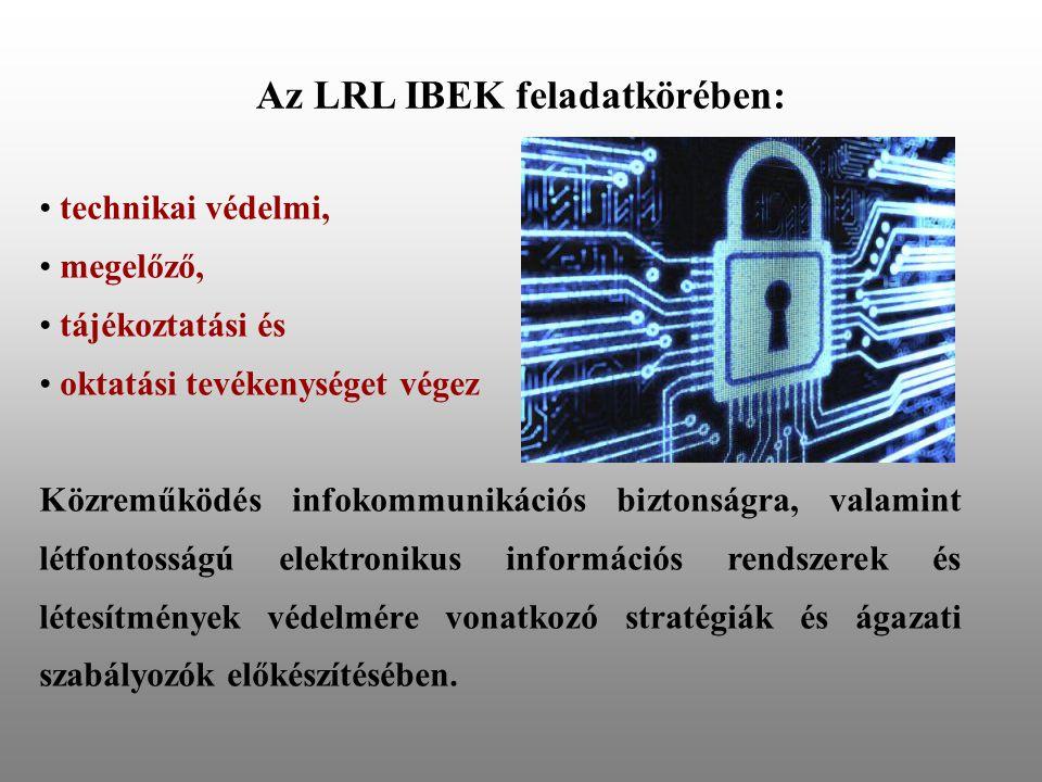 Az LRL IBEK feladatkörében: