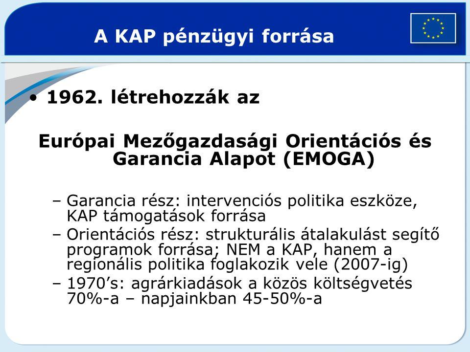Európai Mezőgazdasági Orientációs és Garancia Alapot (EMOGA)