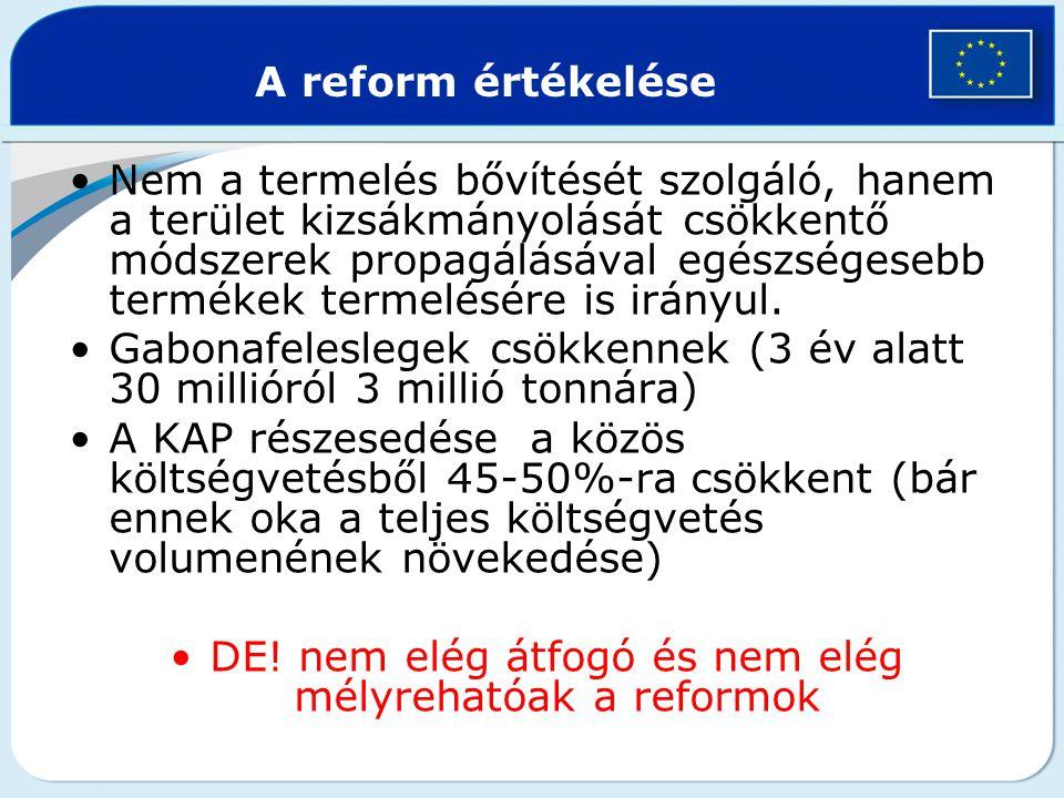 DE! nem elég átfogó és nem elég mélyrehatóak a reformok