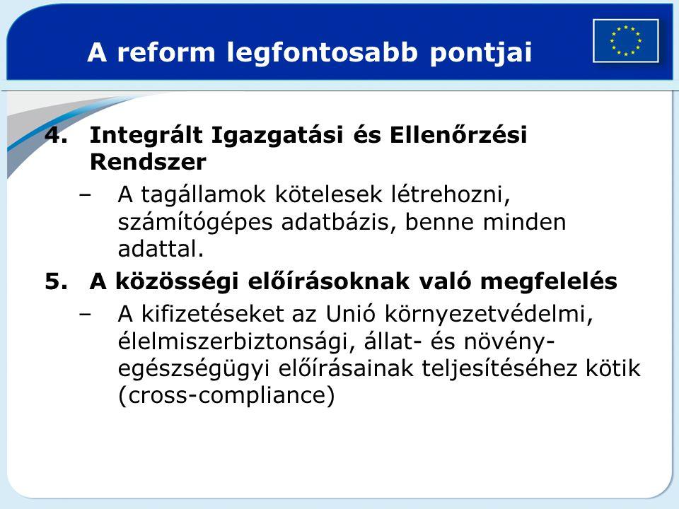 A reform legfontosabb pontjai