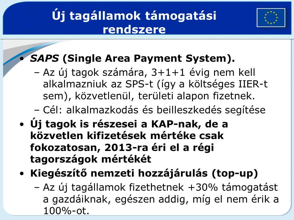 Új tagállamok támogatási rendszere