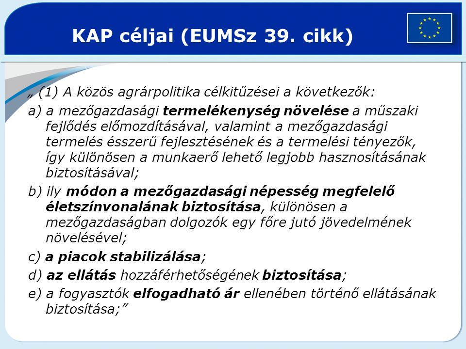 KAP céljai (EUMSz 39. cikk)