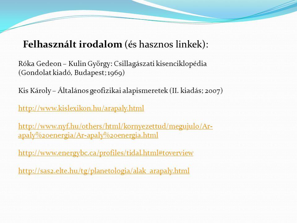 Felhasznált irodalom (és hasznos linkek):