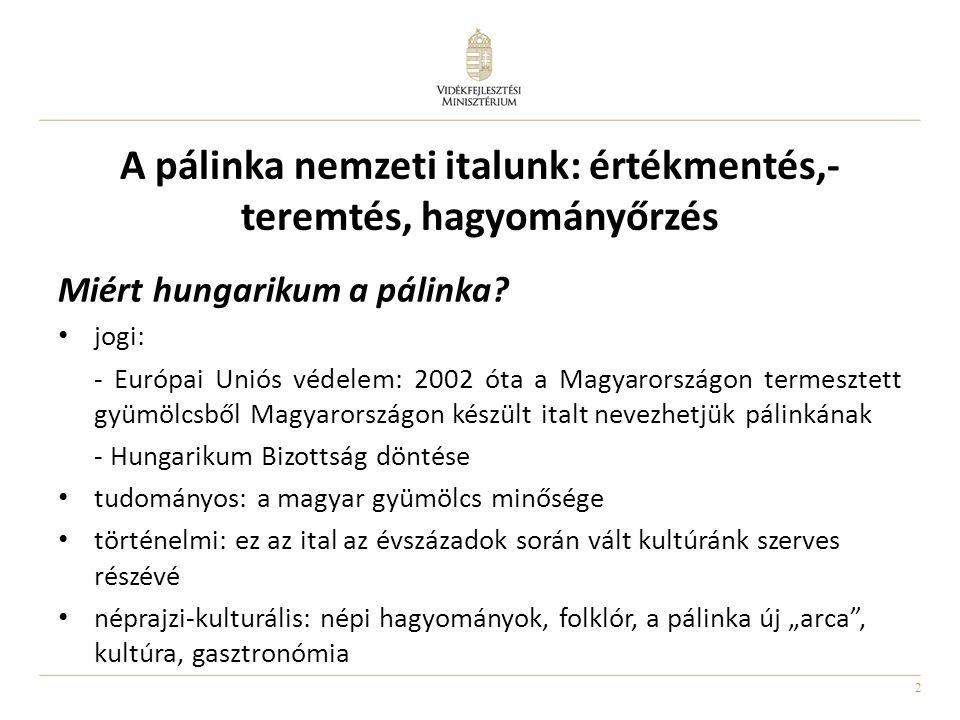 A pálinka nemzeti italunk: értékmentés,- teremtés, hagyományőrzés