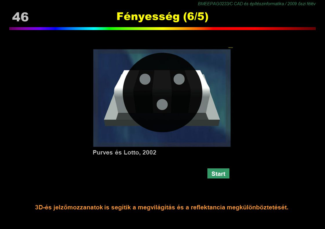 Fényesség (6/5) Purves és Lotto, 2002 Start