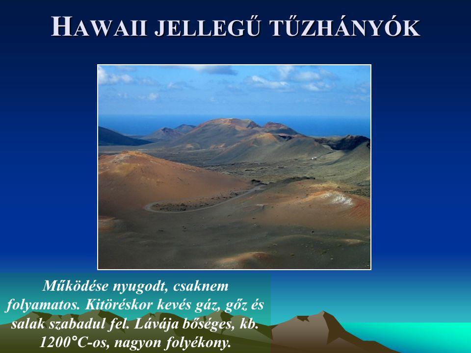 Hawaii jellegű tűzhányók