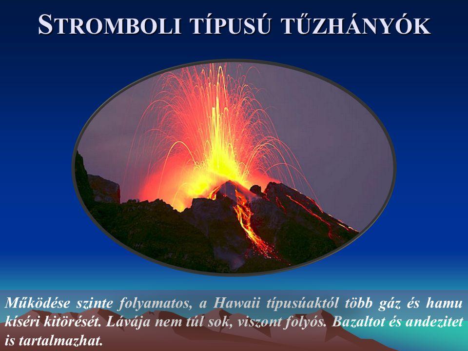 Stromboli típusú tűzhányók