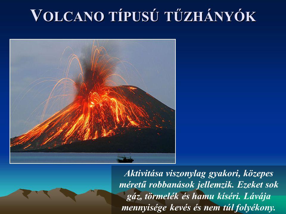 Volcano típusú tűzhányók