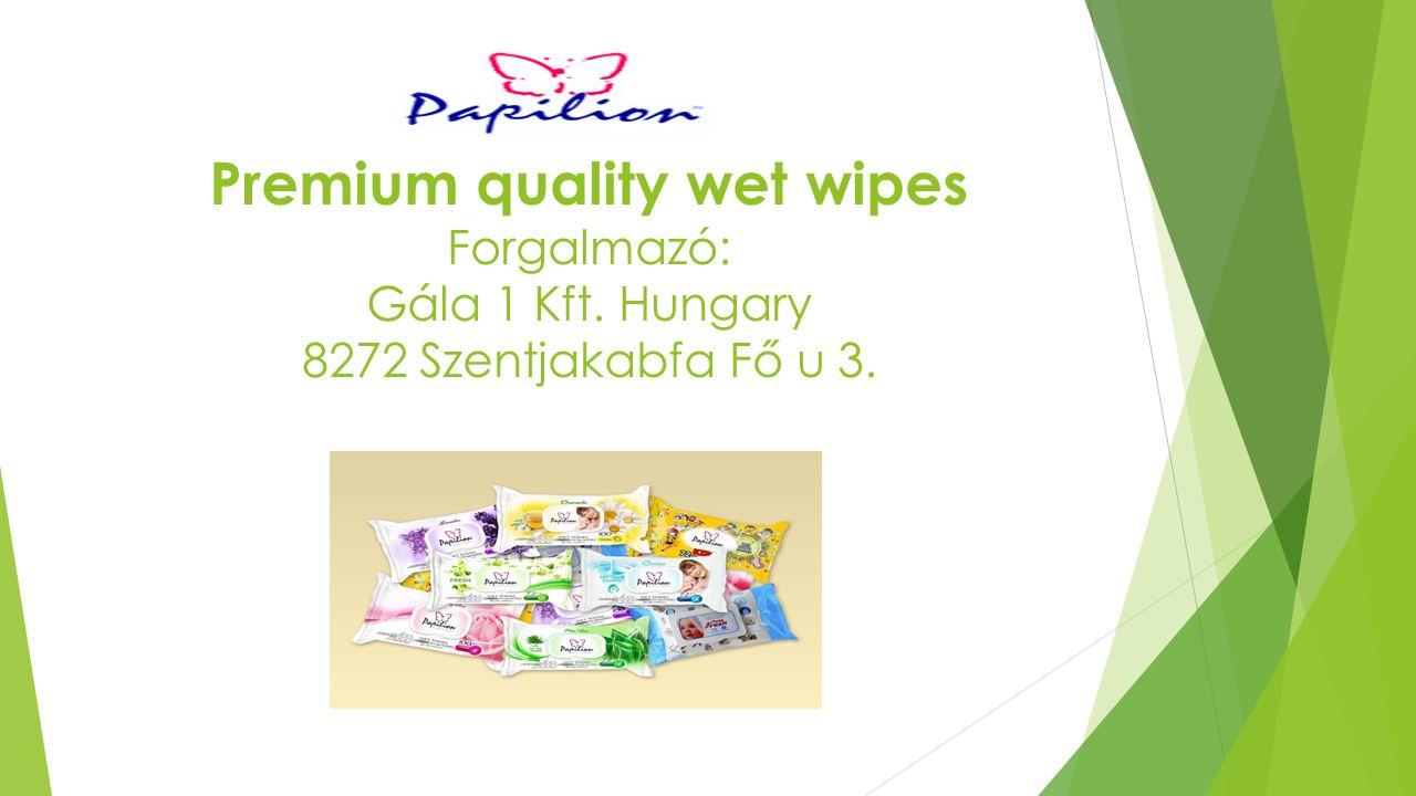 Premium quality wet wipes Forgalmazó: Gála 1 Kft