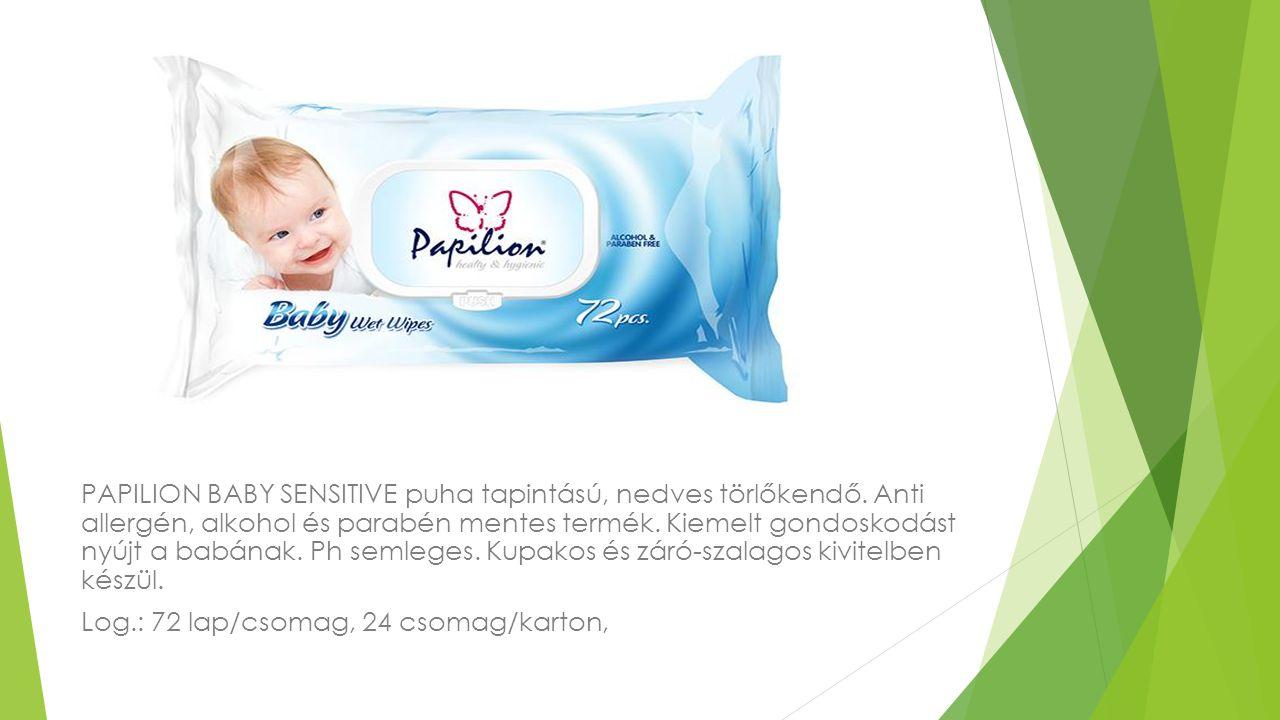 PAPILION BABY SENSITIVE puha tapintású, nedves törlőkendő