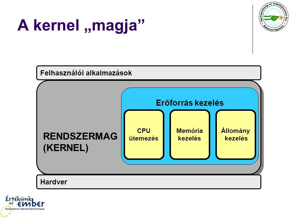 """A kernel """"magja RENDSZERMAG (KERNEL) Erőforrás kezelés"""