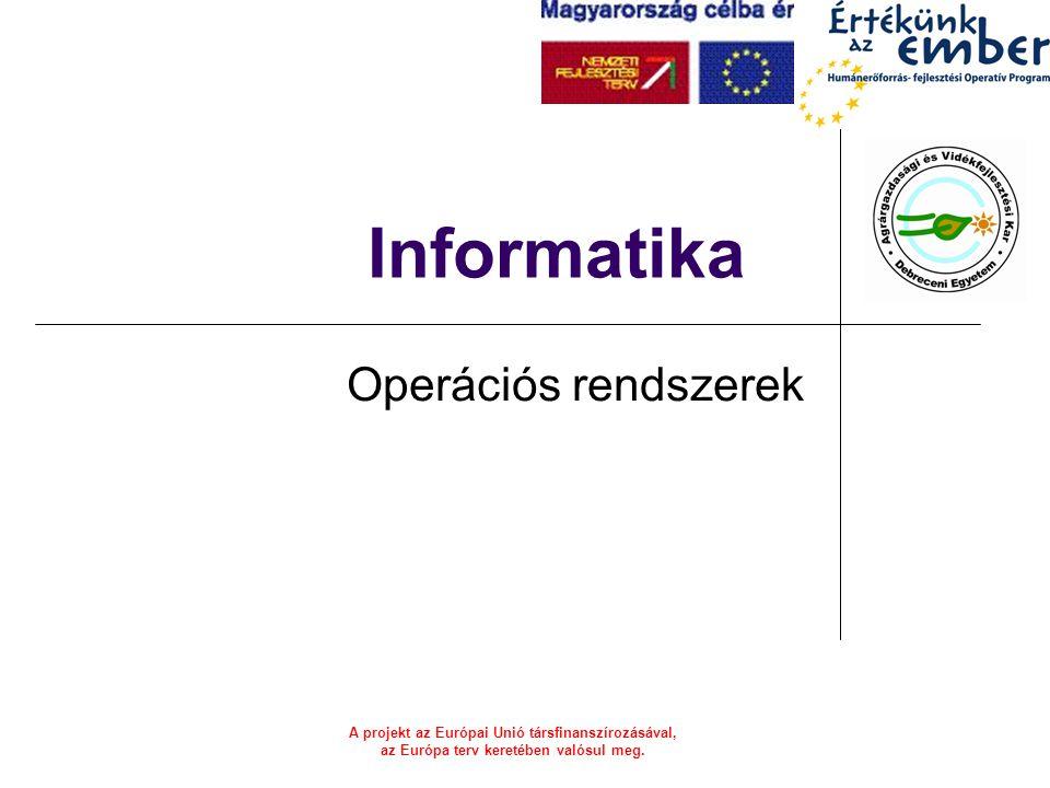 Informatika Operációs rendszerek