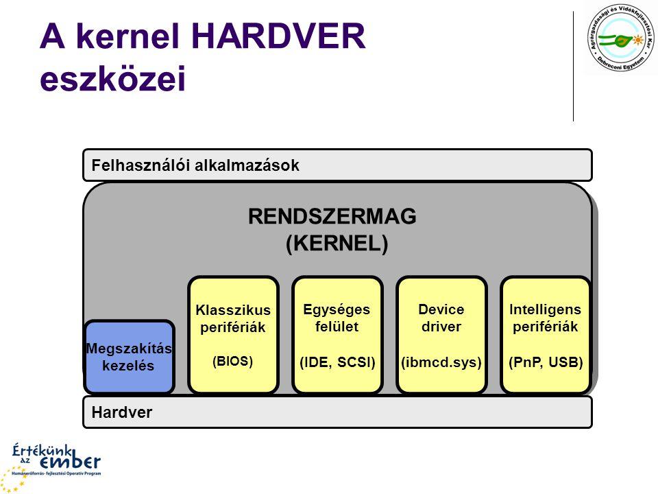 A kernel HARDVER eszközei