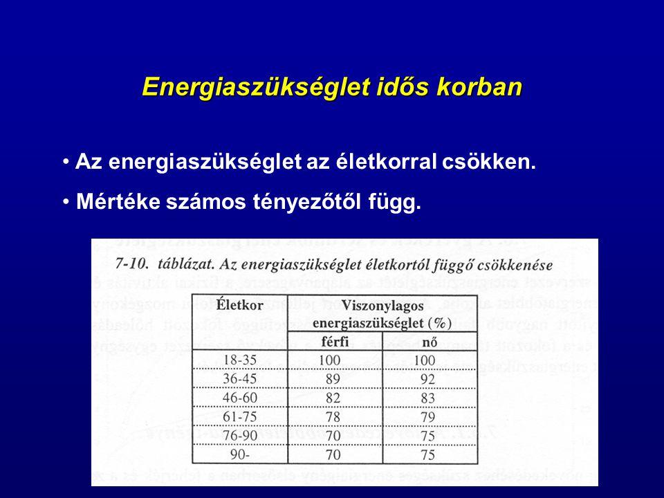 Energiaszükséglet idős korban