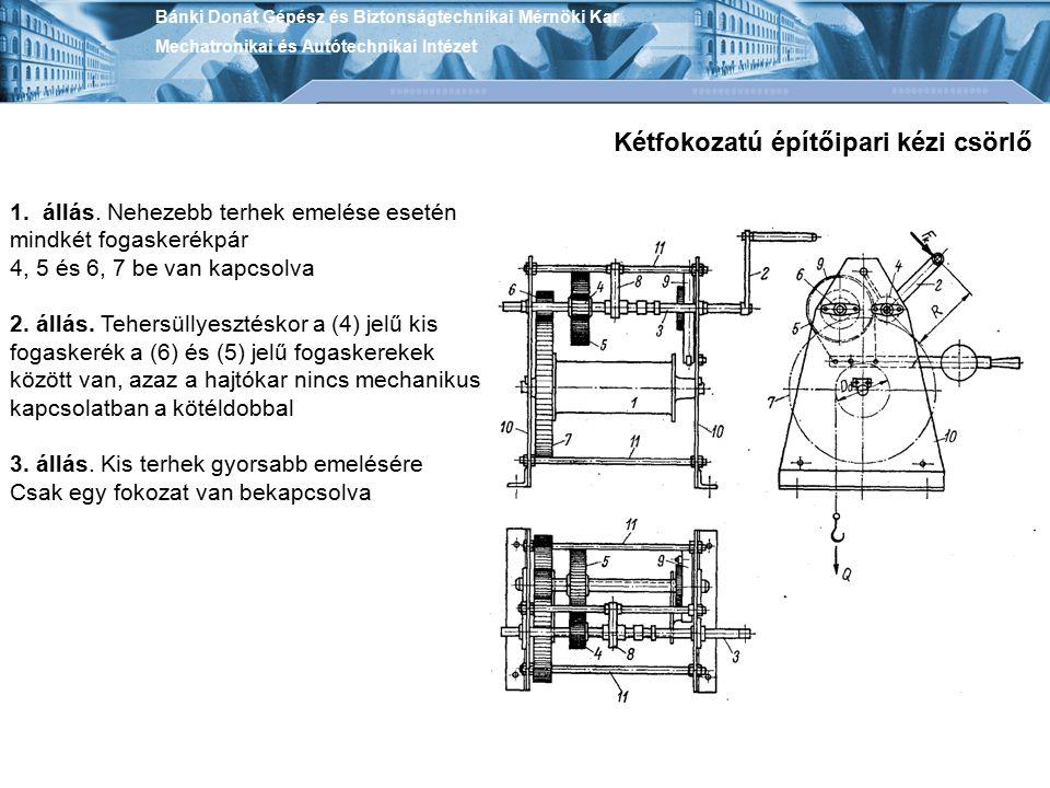 Kétfokozatú építőipari kézi csörlő