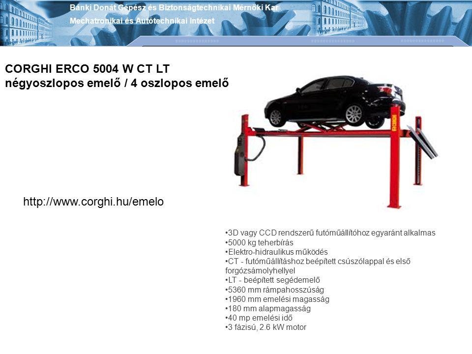 CORGHI ERCO 5004 W CT LT négyoszlopos emelő / 4 oszlopos emelő
