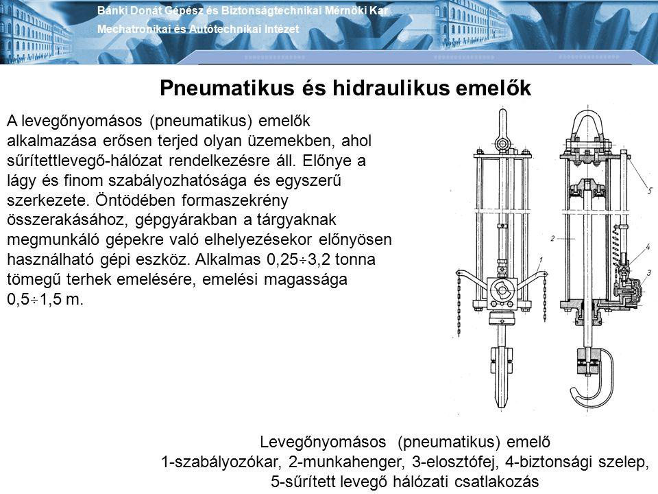 Levegőnyomásos (pneumatikus) emelő
