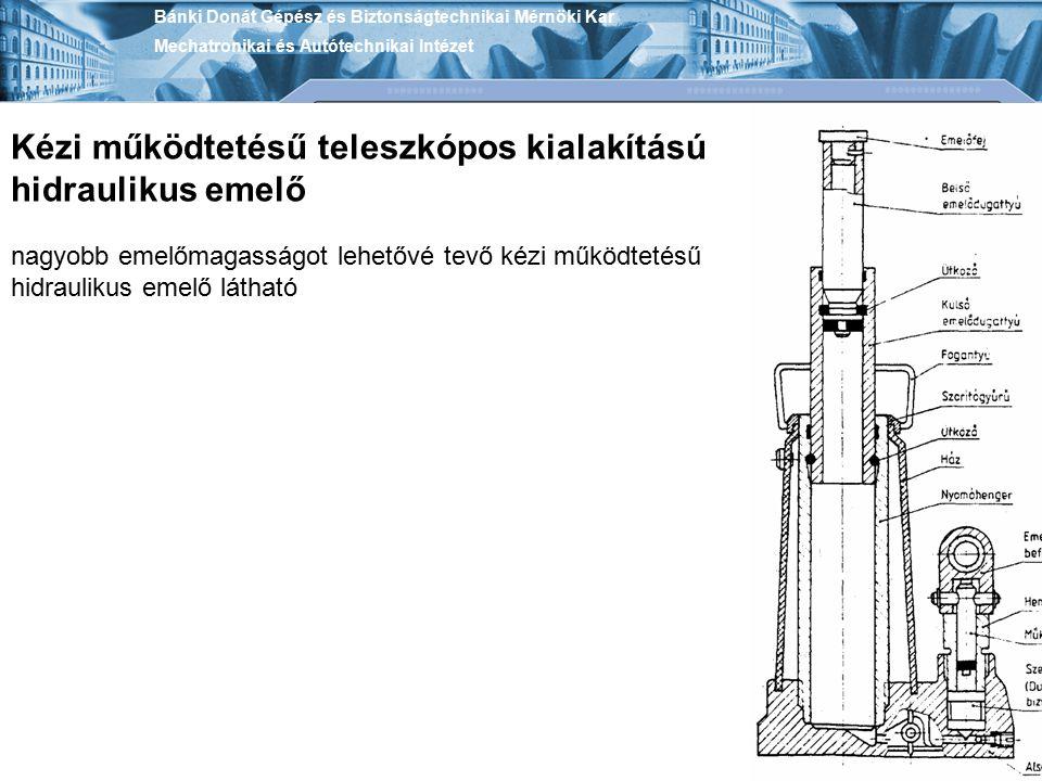 Kézi működtetésű teleszkópos kialakítású hidraulikus emelő