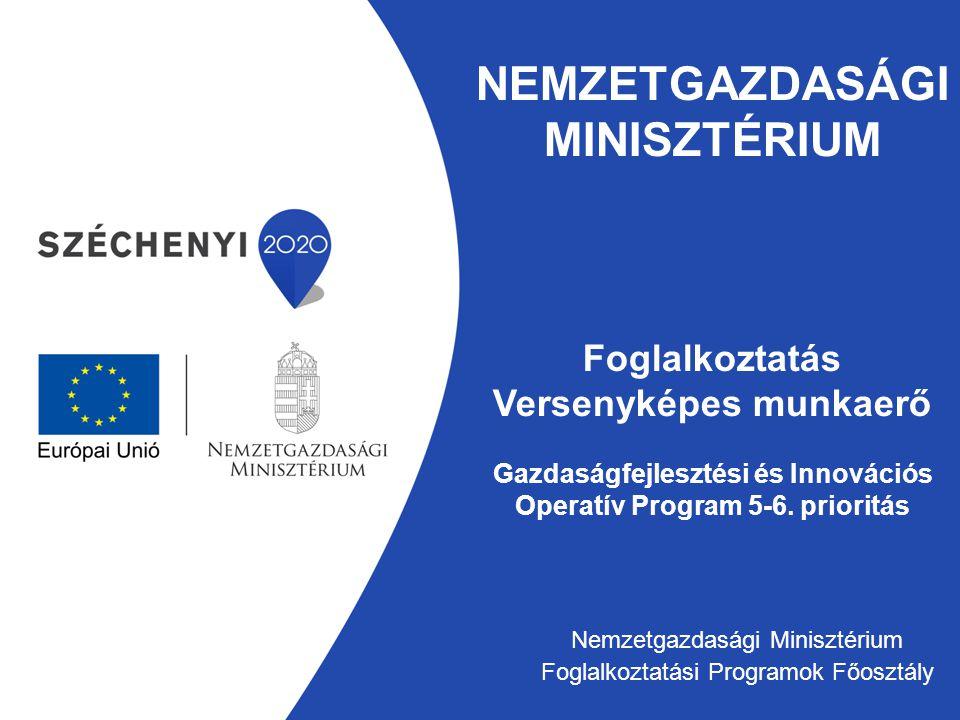 Nemzetgazdasági minisztérium Foglalkoztatás Versenyképes munkaerő Gazdaságfejlesztési és Innovációs Operatív Program 5-6. prioritás