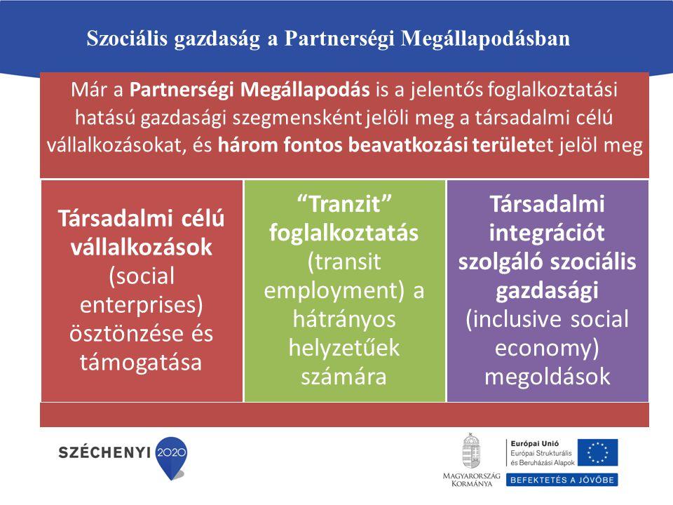 Szociális gazdaság a Partnerségi Megállapodásban