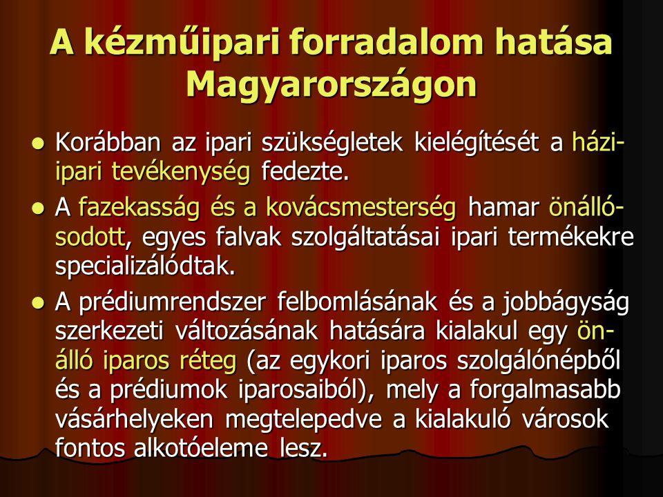 A kézműipari forradalom hatása Magyarországon