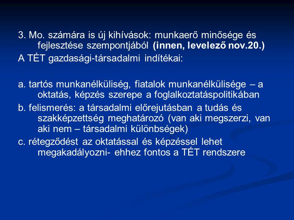 3. Mo. számára is új kihívások: munkaerő minősége és fejlesztése szempontjából (innen, levelező nov.20.)