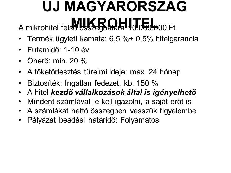 ÚJ MAGYARORSZÁG MIKROHITEL