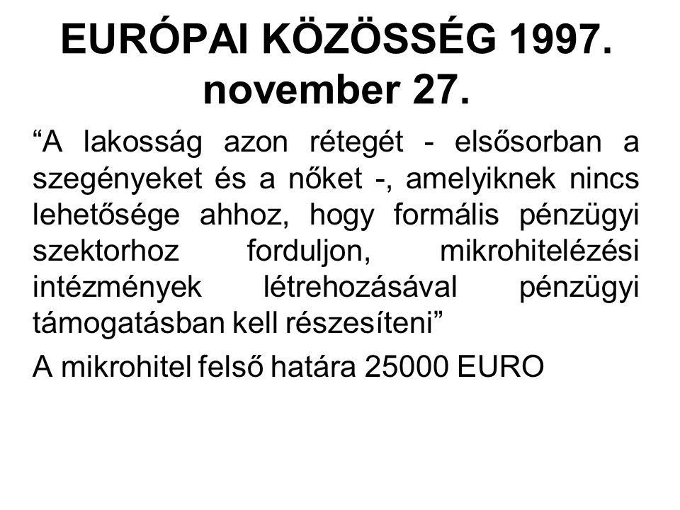 EURÓPAI KÖZÖSSÉG 1997. november 27.