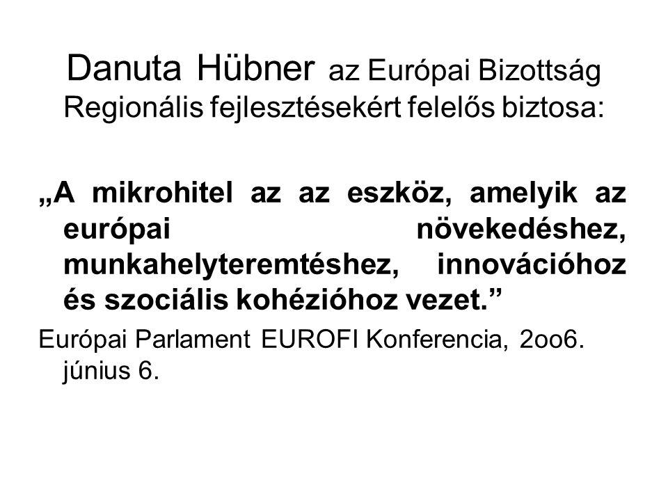 Danuta Hübner az Európai Bizottság Regionális fejlesztésekért felelős biztosa:
