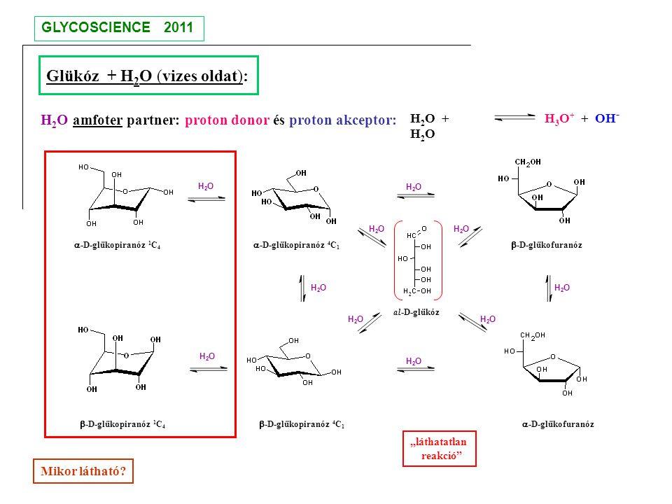 Glükóz + H2O (vizes oldat):