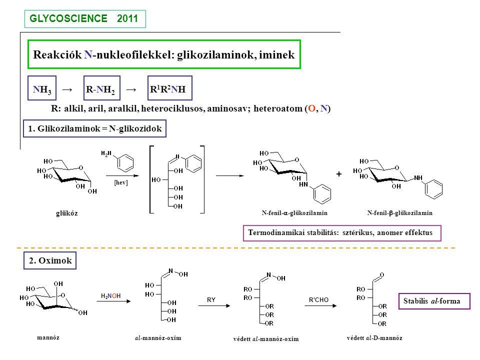 Reakciók N-nukleofilekkel: glikozilaminok, iminek
