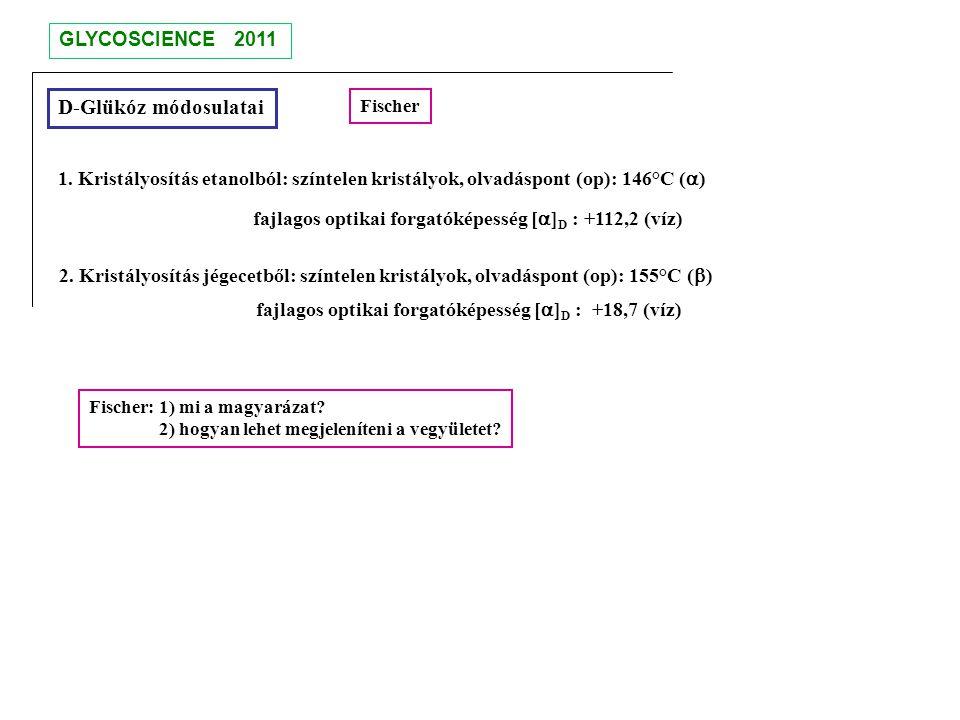 D-Glükóz módosulatai GLYCOSCIENCE 2011
