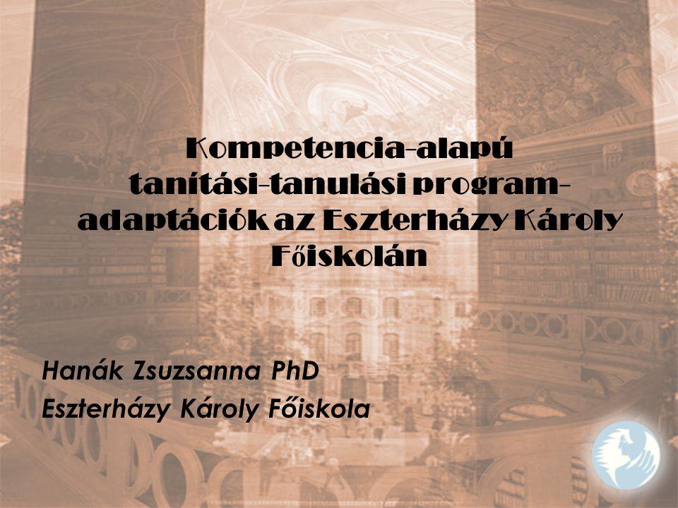 Hanák Zsuzsanna PhD Eszterházy Károly Főiskola