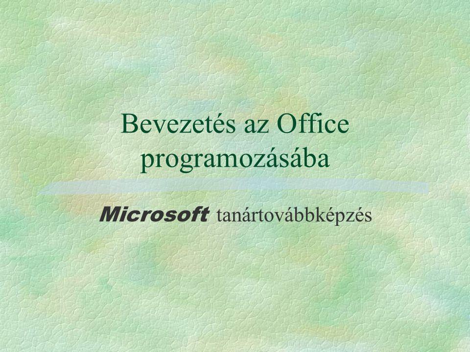 Bevezetés az Office programozásába